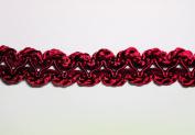 Altotux 1.9cm France Braided Trim Craft Burgundy Red Sewing Notion Embellishment by Yard