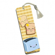 Cute Toast and Toaster Printed Bookmark with Tassel