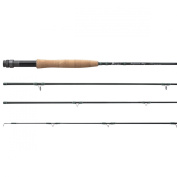 Piscifun 4-Piece 2.4m/2.7m Graphite Fly Fishing Rod with Japanese 30-tonne Toray Carbon Fibre Blanks and Chromed Stainless Steel Snake Guides