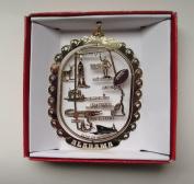 Alabama Brass Christmas Ornament State Souvenir Gift
