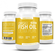truDERMA Ultra Pure Omega 3 Fish Oil Pills 1500 mg | Support Healthy Heart, Brain, Joints and Immune System | 800 mg EPA 600 mg DHA | 60 Soft Gels - 30 Day Supply