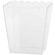 Amscan 1 Count 15cm Scalloped Container, Medium, Clear