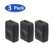 VCE® (3 PACK) HDMI Female to Female Coupler Gold Plated High Speed HDMI Female Adaptor