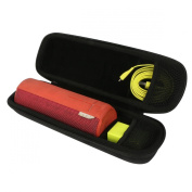 Khanka EVA Hard Case Travel Carrying Storage Bag for Ultimate Ears UE BOOM 2 Wireless Bluetooth Portable Speaker. Fits USB Cable and Wall Charger - Black