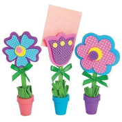Flower Recipe or picture Holder Craft Kit - 12 sets - great Mothers day crafts!