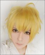LanTing Noragami Yukine Gold Woman Cosplay Party Fashion Anime Wig