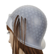 EJY Unisex Professional Reusable Salon Highlighting Dye Frosting Cap Hair Colouring Hat with Metal Hook
