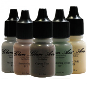 "Airbrush Make up by Glam Air Airbrush Makeup Water-Based In 5 Assorted ""Winter Collection"""
