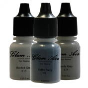"Airbrush Make up by Glam Air "" The Navy Collection "" 3 Shades Water-Based Formula Last Over 18 Hours"
