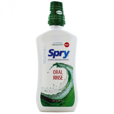 Spry Natural Oral Rinse, Spearmint