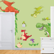 Zooarts Baby Dinosaurs Wall Sticker Decals for Kids Children Room Decor