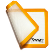 Teresa's Kitchen - Silicone Baking Mat - Nonstick - Heat Resistant - Healthy Cooking - Food-Safe Certified - Oven Tray Liners and Cookie Sheets - Reusable - Premium Baking Sheets Full Size