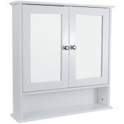 Bath Vida Double Door Bathroom Cabinet, Wood, White