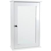 Bath Vida Bathroom Cabinet Single Mirrored Door Wall Mounted, White, Wood