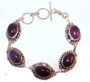 TANGLZ Amethyst Bracelet Silver 925/1000 with Protective Stone follow.