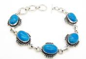 TANGLZ Chalcedony and Bracelet in 925/1000 Solid Silver, mental and Harmonise the body, emotions and mind with follow.