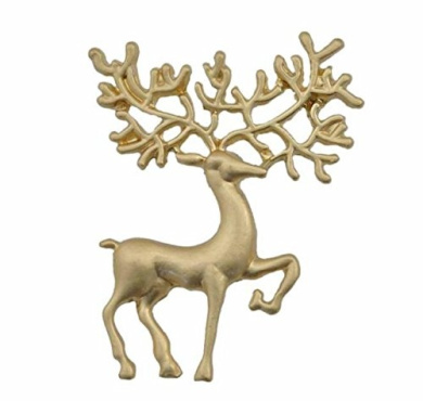 RichBest New Arrival Sapphire Jewellery Alloy Christmas Deer Brooches For Women