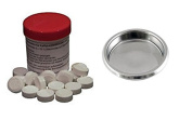 Espresso Blanking Disc + 25 Puly Caff Cleaning tablets Kit Gaggia Classic
