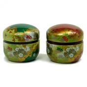 Tea Tins set of two - Japanese Design 100g