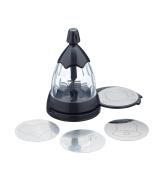 Kitchen Craft Le'Xpress Cocoa Shaker and Coffee Stencil Set, 8.5 x 13.5 cm