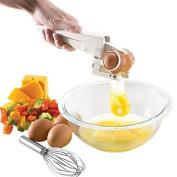 iDealhere Handheld Egg Cracker York & White Separator Kitchen Gadget Tool