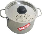 Frabosk Pasta Pot with Strainer Lid, Steel, 6.0 Litres, 22 cm Diameter