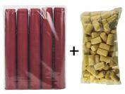 HOMEBREW SAVER PACK OF 100 CORKS & 100 RED SHRINK CAPS