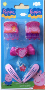 Childrens Exclusive Peppa Pig 6PC . Designer Hair Accessory Gift Fun Pack