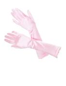Women Satin Party Dress Prom Evening Wedding Bridal Long Finger Gloves Baby Pink