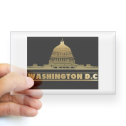 CafePress Washington DC Rectangle Sticker Sticker Rectangle - 3x5 Clear