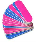5starwarehouse® 10x Mini Nail File Double Sided 100/240 False Fake Nails Pedicure Manicure - Perfect For Travel, Handbag Holiday