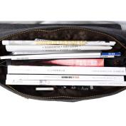 S-ZONE Mens Vintage Canvas Leather Messenger Travelling Briefcase Shoulder Laptop Bag Handbag