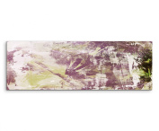 120 x 40 CM Panorama Wall Picture Abstract Canvas Art Purple / Green Painted White / Black