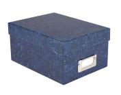 ALBOX57BLUE Photo Album Company Rigid Photograph Storage Gift Box. Store up to 700 5x7 (13x18cm) Photos Deep Blue Marble Effect