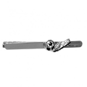 Dalaco Rhodium Plated Football & Boot Tie Bar