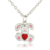 Girls Easter present - Easter Bunny necklace - with gift bag