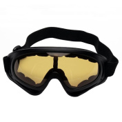Sijueam Ski and Snowboarding Goggles Military Tactical CS Shooting UV Protective Glasses Scratch resistant Anti Fog Windproof Black Frame Winter Outdoor Riding Cycling Motorbiking Equipment, Multicolor.