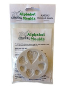 Patterned Hearts - Silicone Icing Moulds for Cake and Cupcake Decoration