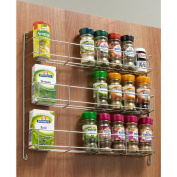 Chrome Spice Herb Jar Rack Holder Kitchen Cupboard Door Storage Shelf 3 Tier