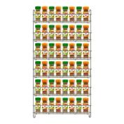Chrome Spice Herb Jar Rack Holder Kitchen Cupboard Door Storage Shelf 6 Tier