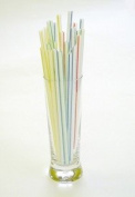"""250 x 8"""" Stripped Jumbo Drinking Straws - 210mm x 7mm - Ideal for Smoothies by Chabrias Ltd"""