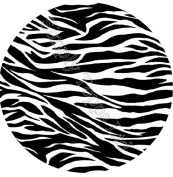 Zebra Print Themed Printed Sugar Icing Sheet (19cm ROUND) for cake decorating - Cut edible shapes from the sugar icing sheet with craft knife or scissors to stick on your cake!