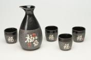 Sake Set Nagoya, 5-Piece, Stoneware