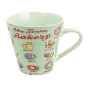 Martin Wiscombe 250 ml Large Stoneware Town Bakery Mug, Multi-Colour