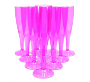 20 Pink Disposable Champagne Flutes