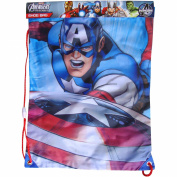 MARVEL Captain America Drawstring School Sports Gym & Swimming Bag