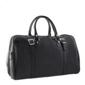 CTM Man Woman Busines Bag, High Quality Briefcase Made in Italy in Genuine Leather - 47x30x25 cm - Black