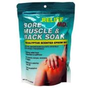 Relief MD Sore Muscle & Back Soak Eucalyptus Scented Epsom Salt - 470ml Multipack