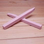 HHE 2 pcs/set Fashion Pink Nail File Manicure Nail Tools Nail Pumice Stone Cuticle Pusher Nail Buffer