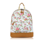 NWNK13® Vintage Designs Printed Canvas Rucksack School Uni Bag Backpack Travel Satchel Shoulder